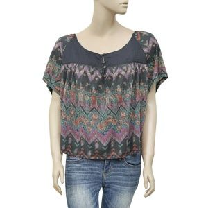 Ecote Urban Outfitters Printed Boho Blouse Top M